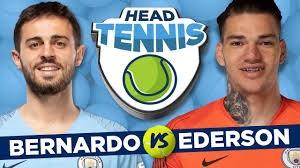 چالش فوتبال تنیس ادرسون مورائس و برناردو سیلوا
