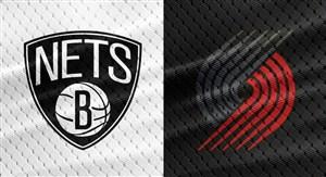 خلاصه بسکتبال پورتلند بلیزرز - بروکلین نتس