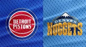 خلاصه بسکتبال دنور ناگتس - دیترویت پیستونز