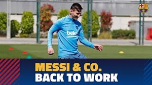تمرین امروز بارسلونا با بازگشت بازیکنان ملیپوش