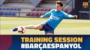 تمرین امروز تیم بارسلونا (09-01-97)