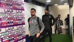 ورود تیم پرسپولیس به استادیوم آزادی