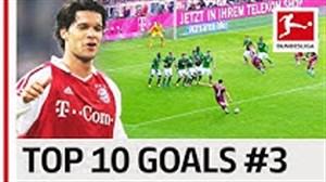10 گل برتر بوندسلیگا توسط بازیکنانی با شماره پیراهن 3