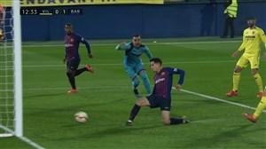 گل اول بارسلونا به ویارئال (کوتینیو)
