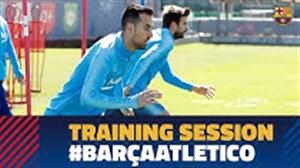 تمرین بارسلونا برای تقابل با اتلتیکومادرید