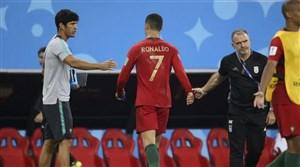 مک درمورت: رونالدو از بازی با ایران راضی نبود