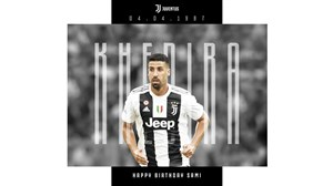 تبریک تولد سامی خدیرا توسط باشگاه یوونتوس