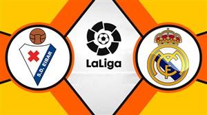 خلاصه بازی رئال مادرید 2 - ایبار 1