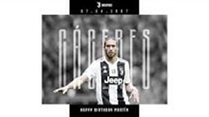 تبریک باشگاه یوونتوس به کاسرس بمناسبت سالروز تولدش