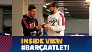 پشت صحنه دیدار بارسلونا و اتلتیکومادرید