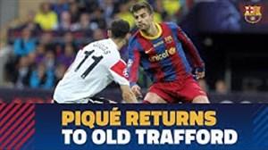 تقابل جرارد پیکه با تیم سابق خود در لیگ قهرمانان اروپا