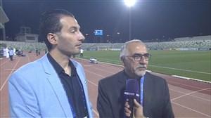 صحبت های حاجیلو دقایقی قبل از بازی استقلال-الهلال