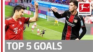 پنج گل برتر هفته بیست و هشتم بوندسلیگا 2019