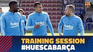 تمرینات بارسلونا برای تقابل با اوئسکا