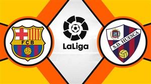 خلاصه بازی اوئسکا 0 - بارسلونا 0
