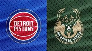 خلاصه بسکتبال میلواکی - دیترویت پیستونز