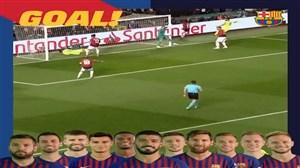 50 پاس بازیکنان بارسلونا قبل از گل به منچستریونایتد