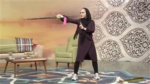 حرکات رزمی زهرا کیانی، تاریخ ساز ووشو در برنامه زنده
