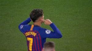 گل سوم بارسلونا به منچستریونایتد؛ سوپرگل کوتینیو