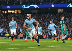 گل چهارم منچسترسیتی به تاتنهام توسط آگوئرو