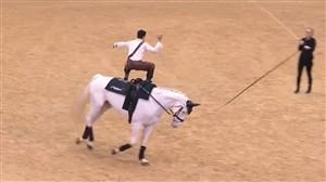 مسابقهی حرکات نمایشی بر روی اسب