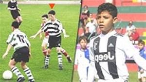 مقایسه کودکی کریستیانو رونالدو با پسرش
