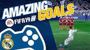10 گل برتر رئال مادرید در بازی فیفا 19