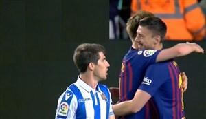 گل اول بارسلونا به رئال سویداد ( لنگلت )
