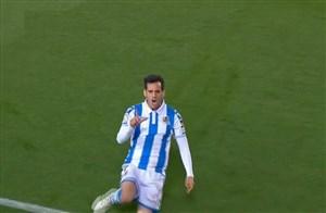 گل اول رئال سوسیداد به بارسلونا ( خوان می )
