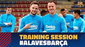 تمرینات  امروز بارسلونا(3-2-98)