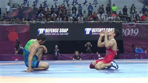 کسب مدال برنز وزن 65 کیلوگرم توسط پیمان بیابانی (قهرمانی آسیا)