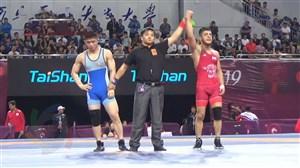 کسب مدال طلای  وزن57 کیلو توسط رضا اطری(قهرمانی آسیا)