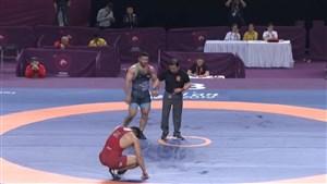 کسب مدال طلای وزن 97 کیلو توسط رضا یزدانی (قهرمانی آسیا)