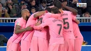گل اول بارسلونا به آلاوس ( کارلس آلنا )
