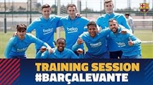 تمرینات امروز تیم بارسلونا(04-02-98)