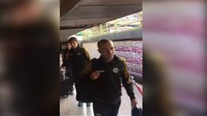 ورود بازیکنان سپاهان به ورزشگاه آزادی