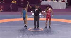شکست رضا خدری برابر حریف قرقیزستانی در رده بندی وزن 55 کیلوگرم