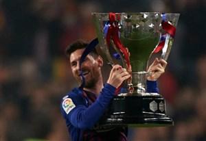 جشن قهرمانی بارسلونا در لالیگای اسپانیا
