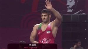 کسب مدال طلای وزن 82 کیلوگرم توسط سعید عبدولی