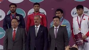اهدای مدال طلا وزن 82 کیلوگرم سعید عبدولی