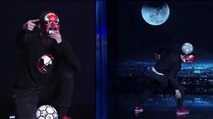 فری استایل فوق العاده با توپ فوتبال در برنامه عصرجدید