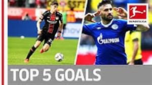 5 گل برتر هفته 31 بوندسلیگا در فصل 19-2018