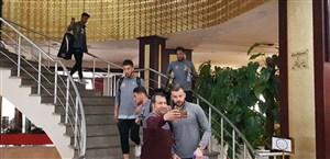 حرکت بازیکنان پرسپولیس به سمت ورزشگاه یادگار امام