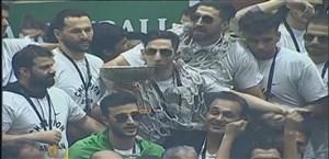 جشن قهرمانی پرشور پالایش نفت آبادان در لیگ برتر