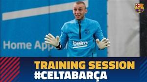 تمرین امروز تیم بارسلونا (14-02-98)