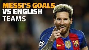 26 گل مسی به تیم های انگلیسی