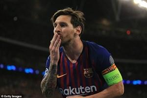 گل دوم بارسلونا به ختافه (مسی)