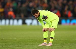 دشواری های لیونل مسی در زمین فوتبال