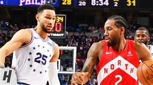 خلاصه بسکتبال تورنتو رپترز -  فیلادلفیا سیکسرز (بازی پنجم)