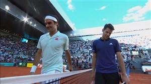 شکست فدرر برابر دومینیک تیم در مسابقات تنیس مادرید